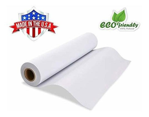 rollo de papel de caballete blanco kraft de 17.75  x 24...