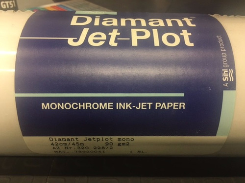 rollo de papel para plotter impresora vegetal calco 42cm a2