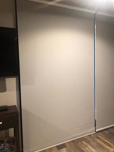 rollo de tela blackout - texturado gris - 3mts x 26 de largo