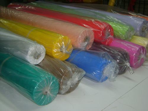 rollo de tela (friselina) 80grs 1.50 ancho por 50 mts largo