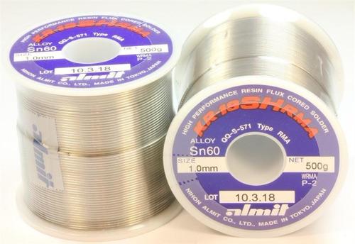rollo estaño japan almit 500g 0.5mm 1mm el mejor de todos