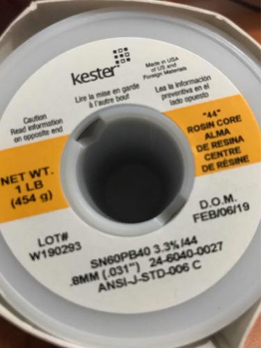 rollo estaño kester 60/40 0.8mm fino sn60pb40 1lb 454gr