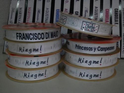 rollo etiqueta personalizada impresa full color logo nombres