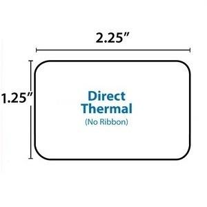 rollo etiquetas generica zebra 2,25 x 1,25 codigo termica