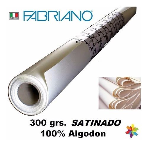 rollo fabriano artist satinado 300g 100% algodon barrionorte