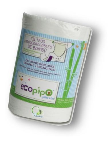 rollo filtro de bambú ecopipo 100 hojas 1 pieza