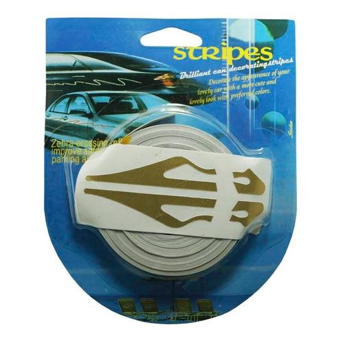 rollo franjas deportivas para auto dorado calcomania sticker