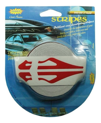 rollo franjas deportivas para auto rojo calcomania sticker