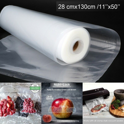 rollo fundas bolsas foodsaver 11 x50' para selladora a vacio