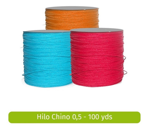 rollo hilo cordon chino - 0,5 mm - 50 ydsx 2 unidades