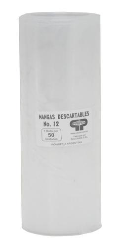 rollo mangas descartables 50 unidades nro 12 parpen 17x30cm