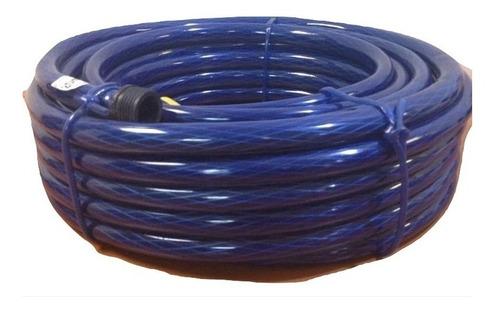 rollo manguera 20 mts tipo culebra azul  1/2pulg gs