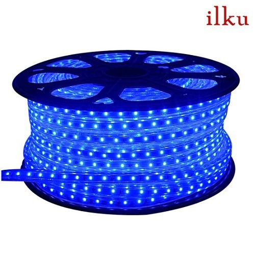 rollo manguera led color azul 220v 10mt c/ conector/ ilku