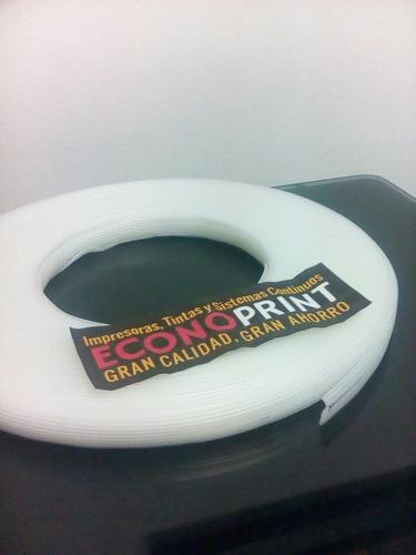 rollo manguera para sistema tinta continua 8 tubos de 25 mts