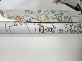 Rollo Papel Adhesivo Dibujos Infantiles Para Pintar Stickn
