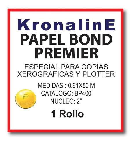 rollo papel bond para plotter bp400 0.91x50 mts n2 hp,epson