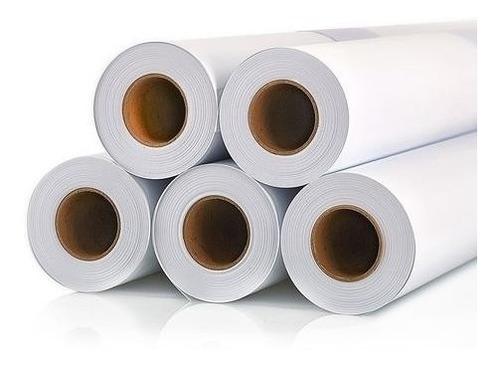 rollo papel bond plotter 72.4cm ancho 50mt alta blancur 75gr