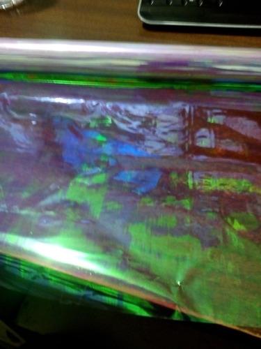 rollo papel celofan iridiscente luxfan transparente regalos