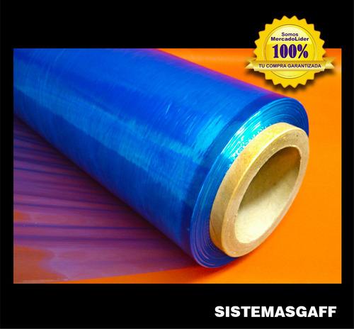 rollo papel film stretch azul 50cm embalaje valija reforzado
