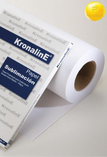 rollo papel sublimacion 61x100 mts subl24 kronaline 100 grs