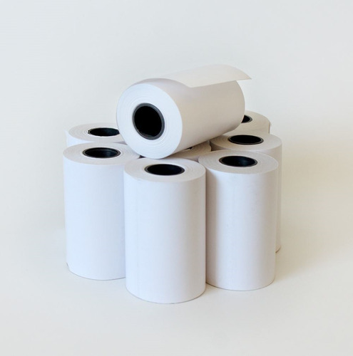 rollo papel térmico pos 57mm x 15mt (caja 10 unidades)