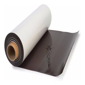 Rollo Plancha De Imán Con Adhesivo Flexible  0,60x1 Mts.