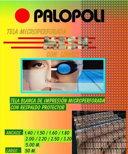 rollo tela translucida back light 10 onz 1.20x50m palopoli