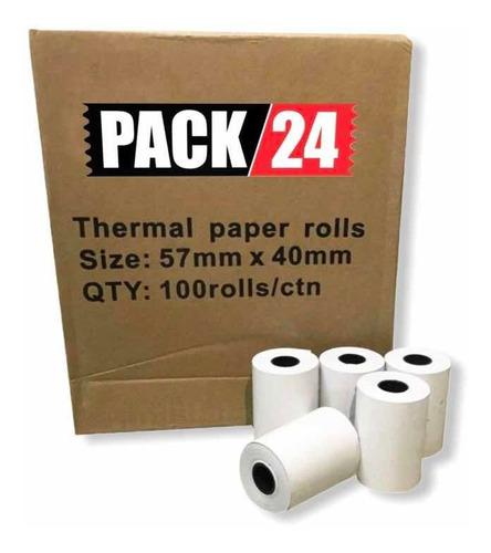 rollo térmico 57x40 mm blanco paq/40 und
