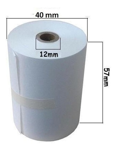 rollo termico 57x40 mm punto venta tienda (10 und.) 3952 c/u