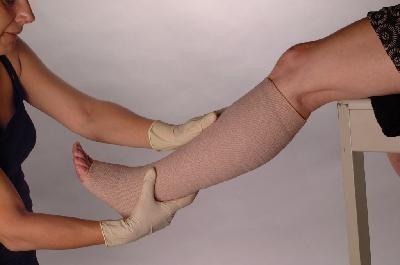 rollo venda elastica cohesiva brazo pierna clinica