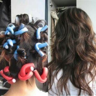 rollos bigudies flexible rizadora ondular cabello tubos pelo