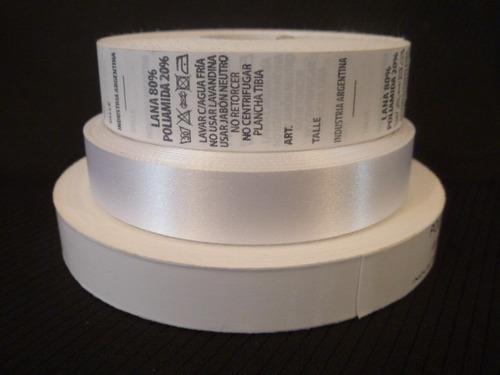 rollos cintas poliamida para etiquetas ancho 10 mm x 200 mts