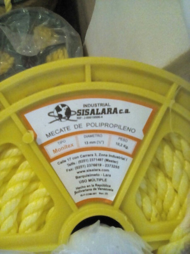 rollos de mecate sisalara monitex 1/2, 9/16 oferta 65c/rollo