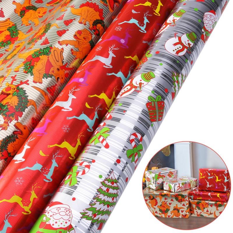 Rollos De Navidad 3 Navidad Diy Regalo Envoltura Papel - $ 101.990 ...