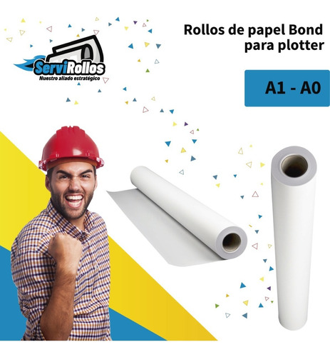 rollos de papel bond para plotter a1 a0