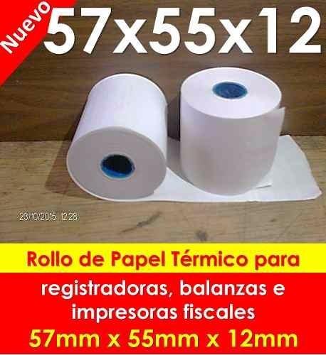 rollos de papel quimico de 75x65 mm