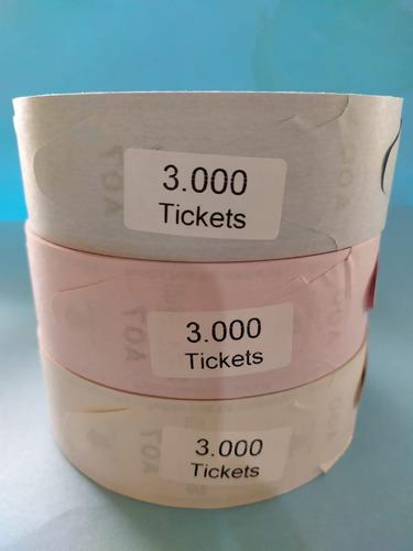 rollos de turnos, tickets de turno