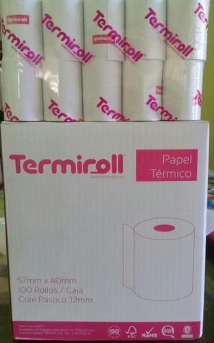 rollos termicos 57x40 para puntos de ventas