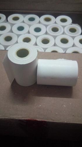 rollos termicos 57x40 totalmente blancos