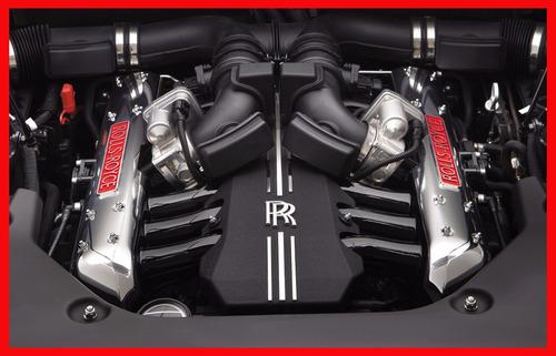 rolls-royce motor v12 cuadro enmarcado 45x30cm