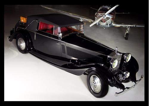 rolls-royce phantom 2 coupe 1935 cuadro enmarcado 45x30cm