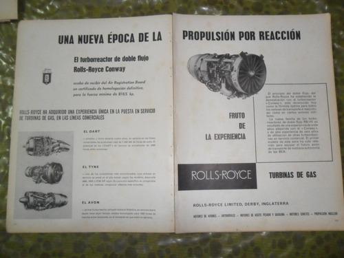 rolls royce turbina de gas avion aviacion publicidad 1959