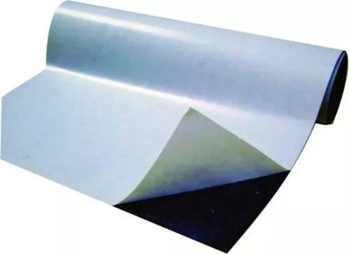 rolo 10 metros manta magnética adesivada 0,3mm fermag 60cm