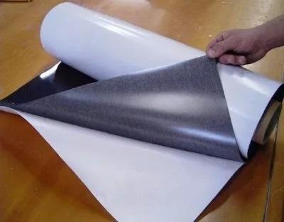 rolo 5 metros manta iman magnética adesivada 0,3mm fermag