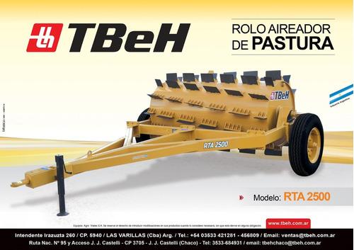 rolo aireador de pasturas modelo rta 2500