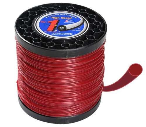 rolo bobin fio cortador grama nylon 2,5mmx 1 kg redondo 170m