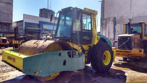rolo compactador ammann asc 110 c/ kit e cabine- 2014