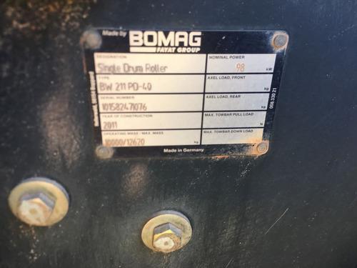 rolo compactador bomag bw212, ano 2011!