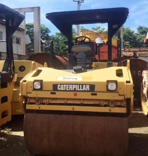 rolo compactador caterpillar cb534d ano: 2010