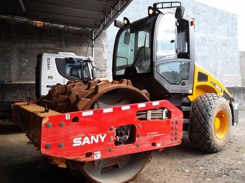 rolo compactador sany 2014  4x4 articulado 605 hrs apenas